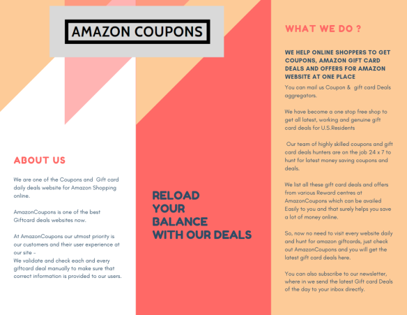 ABOUT | Amazon Coupons